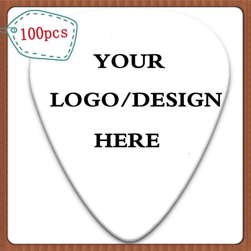 AliExpress Plectres de guitare en cellulose personnalisés, 100 pièces, créez votre propre Logo et Design,