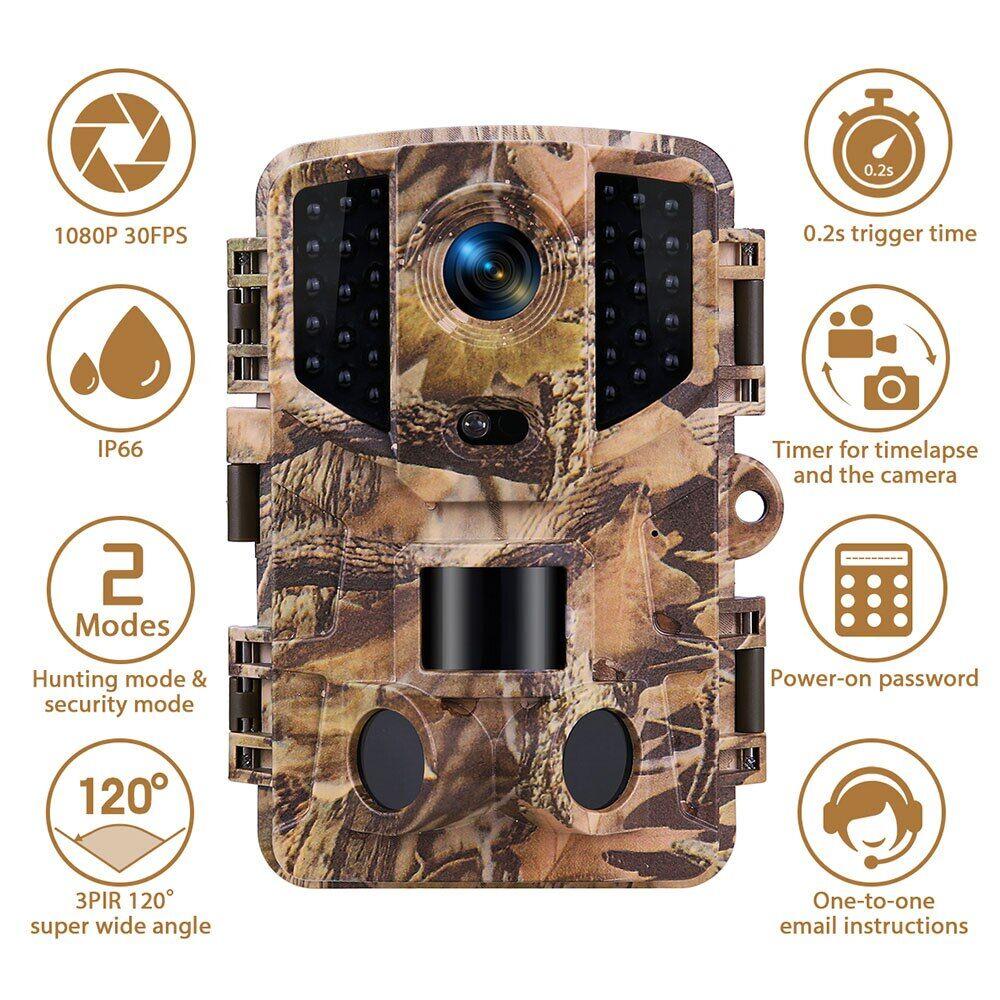 AliExpress Caméra de Surveillance des sentiers de chasse 20mp 1080P HD, infrarouge, Vision nocturne, plein air,