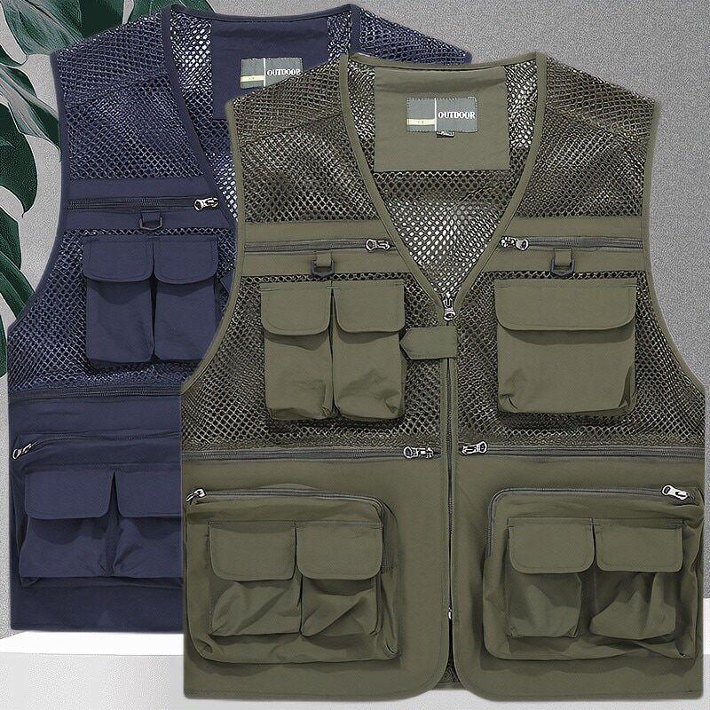 AliExpress Gilet de chasse pour hommes, veste tactique militaire, manteau d'équipement, été photographe gilet