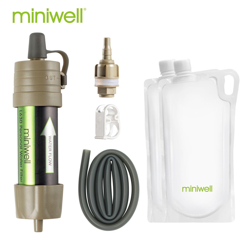 AliExpress Filtre à eau portable en paille de survie, équipement d'extérieur, pour urgence, randonnée,