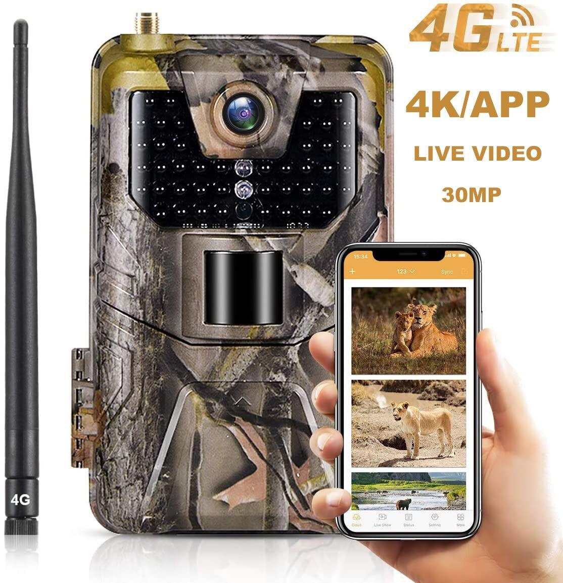 AliExpress Caméra de chasse et de suivi des sentiers avec application Mobile sans fil, 30mp, 4G, Vision