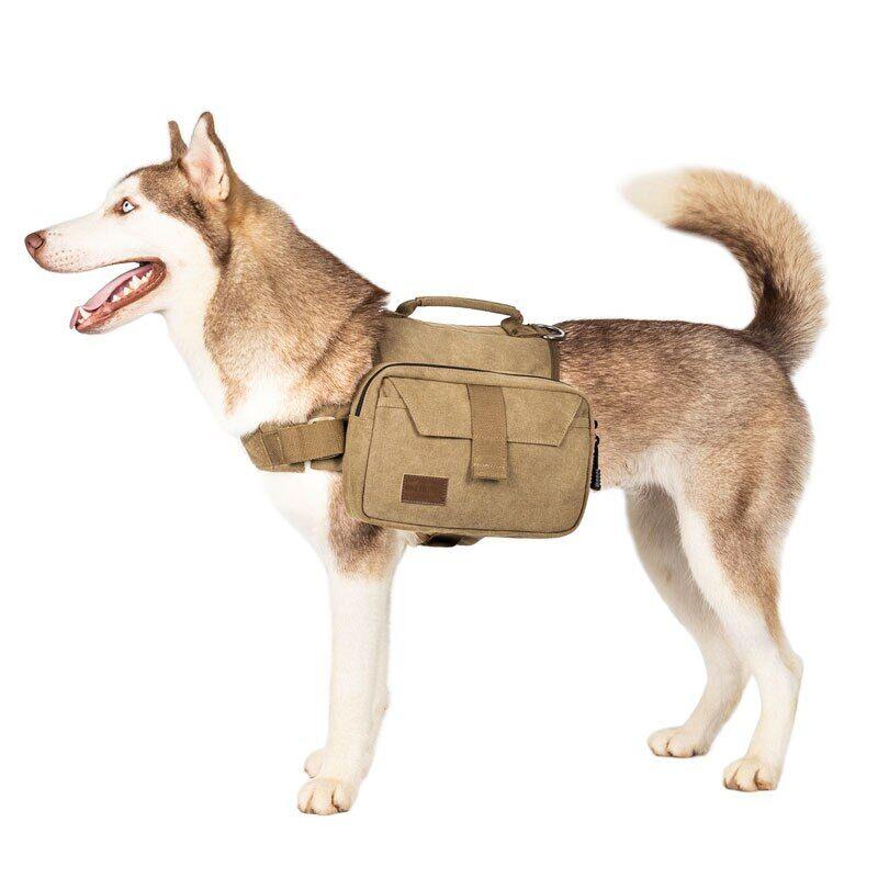 AliExpress OneTigris – sac à dos en toile de coton pour chien, sacoche de voyage, Camping, randonnée, selle