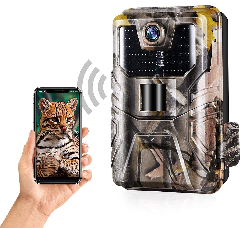 AliExpress Caméra de chasse et de suivi des sentiers du gibier, avec WIFI, 24mp 1296P, application en direct,