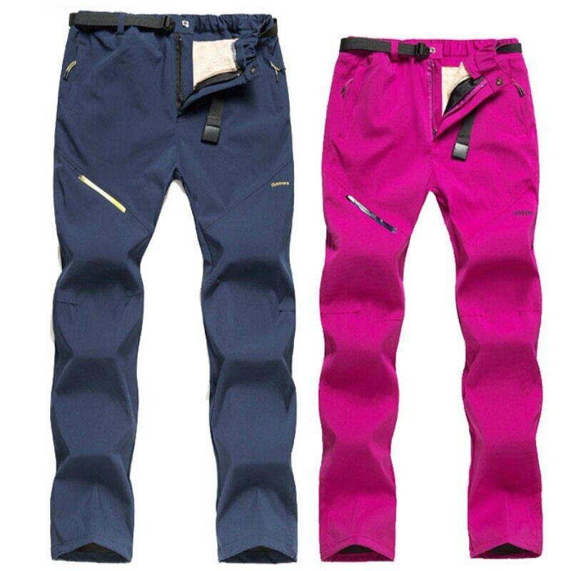 AliExpress Pantalon de Ski molletonné pour hommes et femmes, imperméable, chaud, épais, élastique, pour