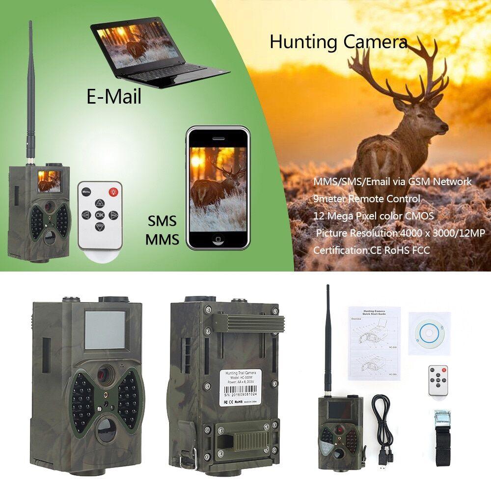 AliExpress Caméra de chasse et de suivi des sentiers, 16mp, Vision nocturne, 2G MMS SMS SMTP HC300M, étanche,