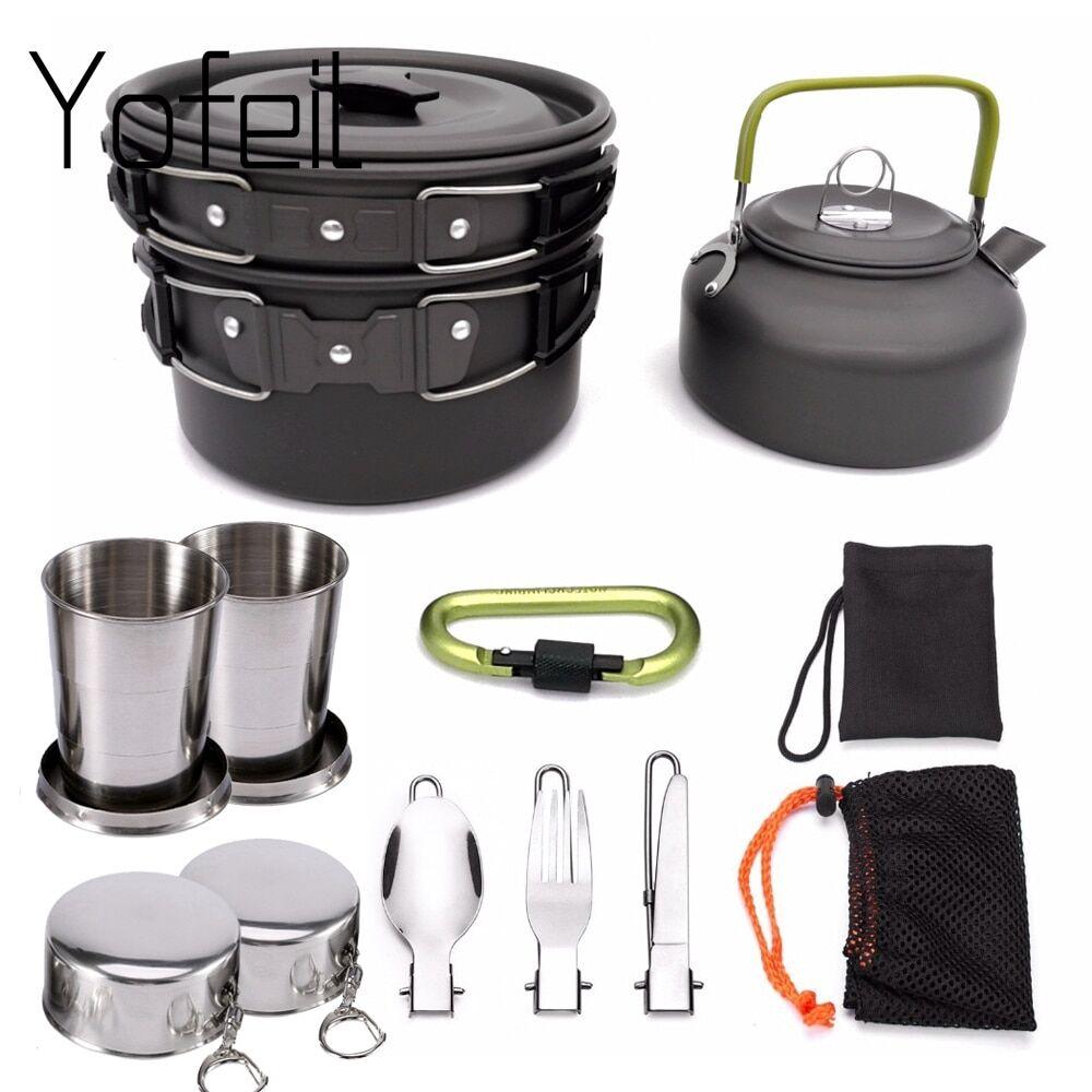 AliExpress Ensemble d'ustensiles de cuisine antiadhésifs, lot de casseroles d'extérieur, adapté pour le