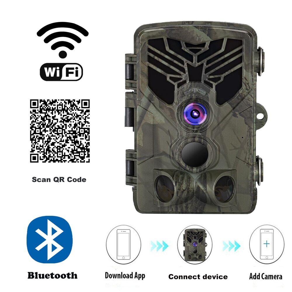 AliExpress Caméra de Surveillance des sentiers de chasse, avec application Wifi et Bluetooth, 24mp 1296P,