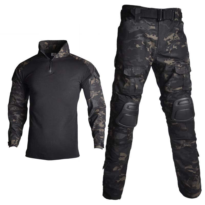 AliExpress Combinaison tactique militaire, uniforme d'entraînement, Camouflage, chemises de chasse, pantalons,
