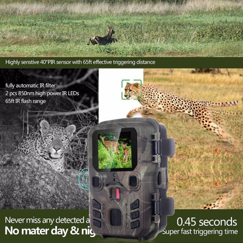 AliExpress Caméra de chasse et de suivi des sentiers du gibier Mini301 12mp 1080P, Vision nocturne, capteur PIR