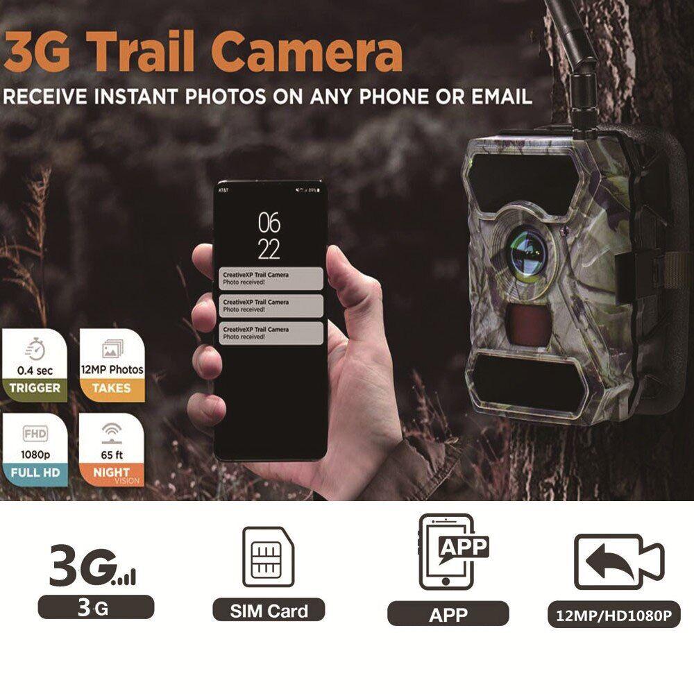 AliExpress Caméra de chasse et de suivi des sentiers du gibier S880G, 12mp, 1080P, Surveillance sauvage, Vision