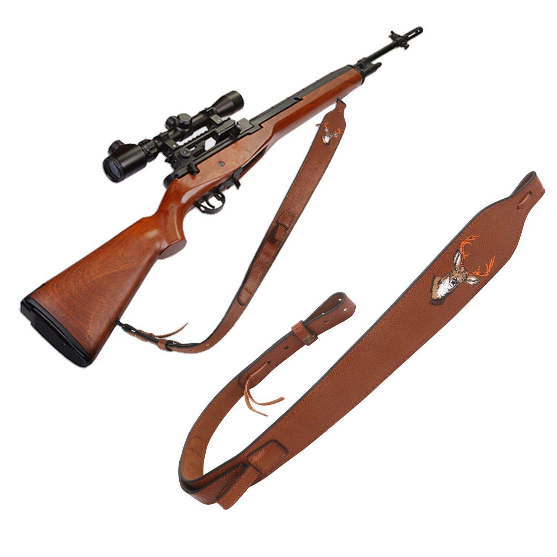tourbon Turban Vintage pour fusil de chasse, en cuir véritable, sangle d'épaule pour fusil, ceinture de
