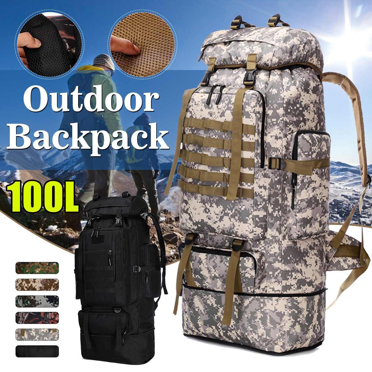 AliExpress 100L en plein air militaire sacs à dos Oxford tissu étanche tactique sac à dos sport Camping