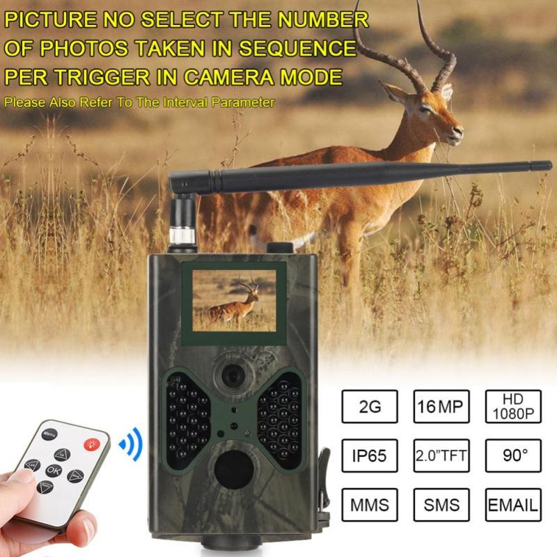 AliExpress Caméra de chasse et de suivi des sentiers HC330M, 16mp, étanche, 1080P, MMS / SMTP/SMS, piège Photo,