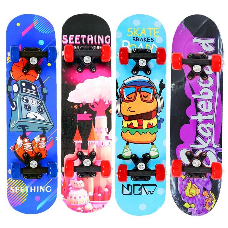 24inch kids Skateboard en bois d'érable pour enfants, 24 pouces, planche à roulettes à quatre roues, Longboard,