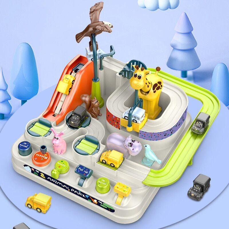 AliExpress Jeu éducatif de voiture de course sur Rail pour enfants, Puzzle manuel, jeu de Table, maison, cadeau