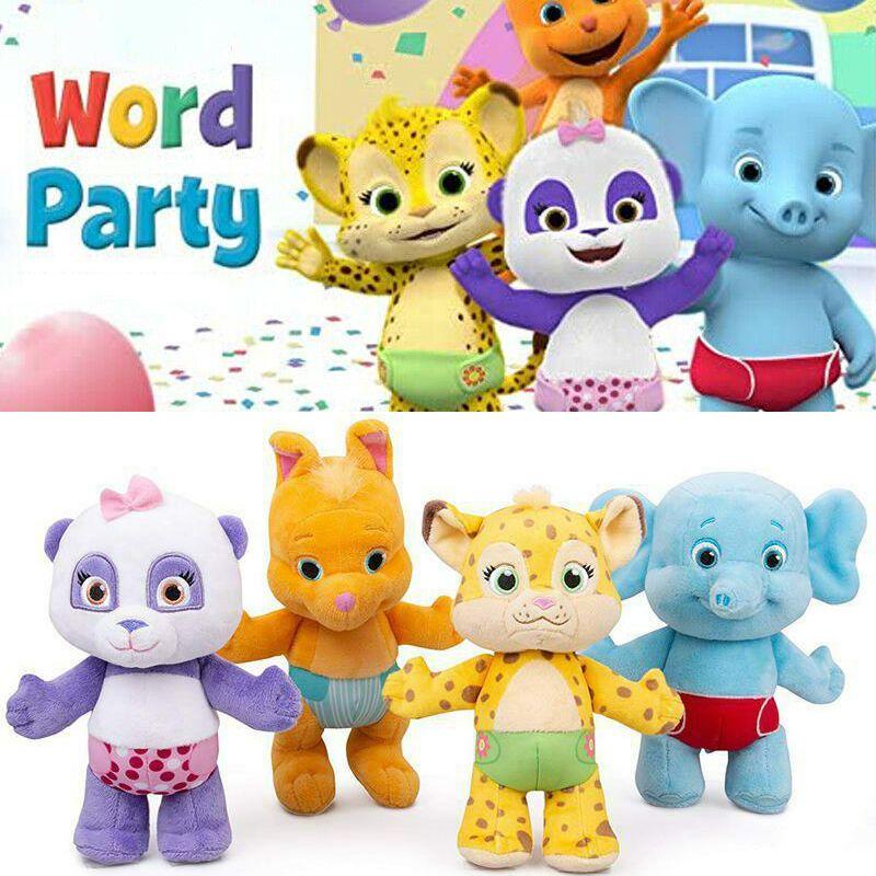 lulu Jouet en peluche de fête des mots pour enfants, Lulu, billy, Franny, Kip, Panda, animaux en peluche,