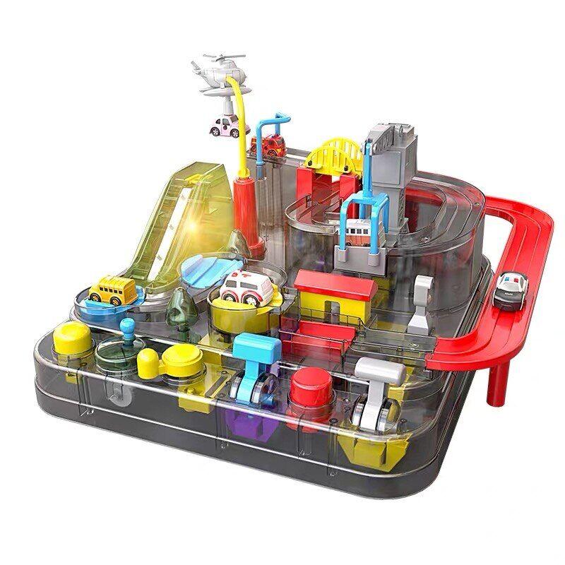 AliExpress Jeu d'aventure Transparent, modèle de voiture de course sur Rail, jouet éducatif pour enfants, jeu