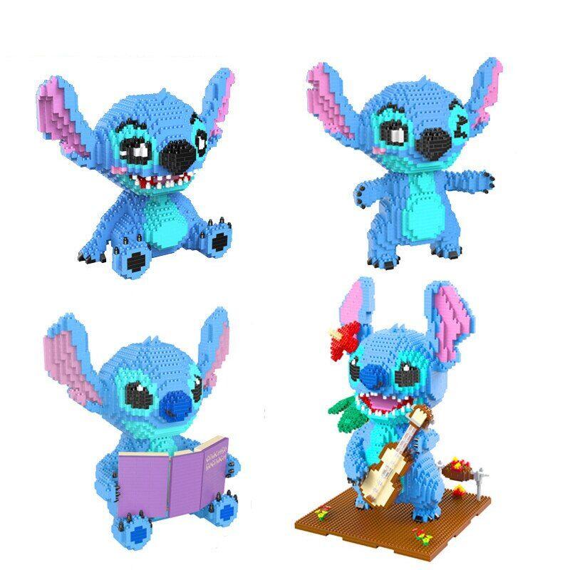 AliExpress Bloc de construction diamant Micro Stitch, modèle 3D mignon pour enfants, Mini briques, jouets
