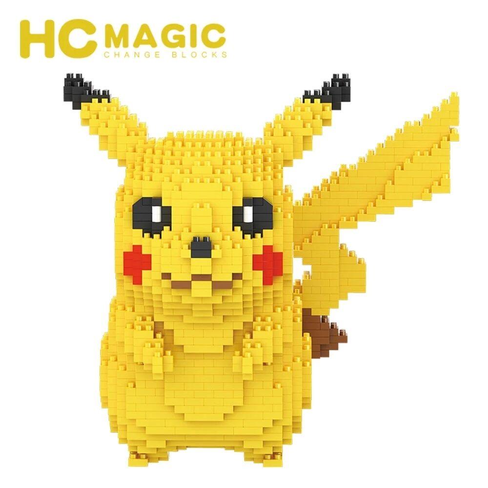 AliExpress Micro blocs de construction Pikachu HC Magic 1650, 9009 pièces, modèle 3D, Mini briques Pokemon