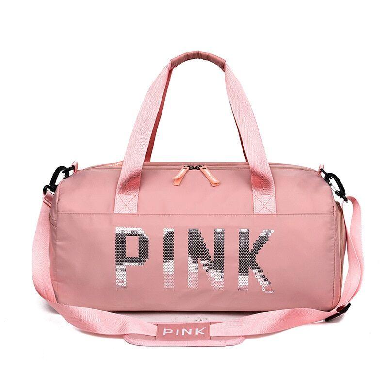 AliExpress Sac De Sport étanche à paillettes rose pour femmes, compartiment pour chaussures, pour Fitness et
