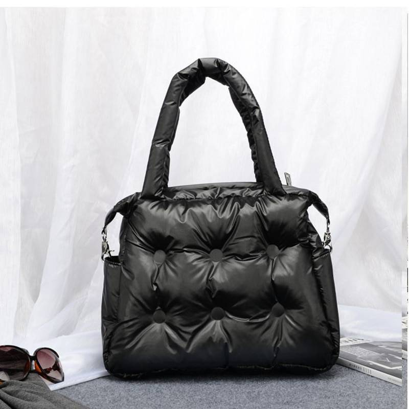 AliExpress Sac à main de luxe en coton avec plumes pour femmes, sacoche à épaule, fourre-tout, collection