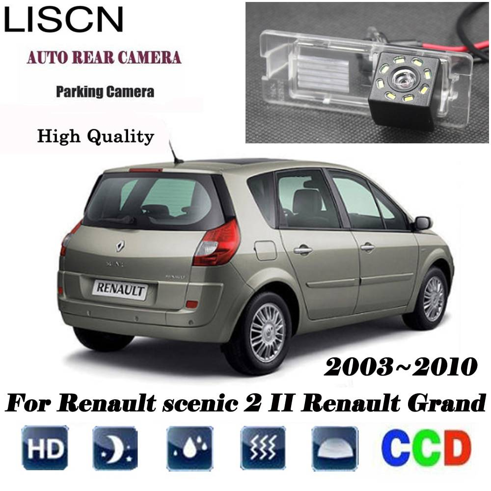AliExpress Caméra de sauvegarde de Vision nocturne HD pour Renault scenic 2 II Renault Grand scenic, caméra