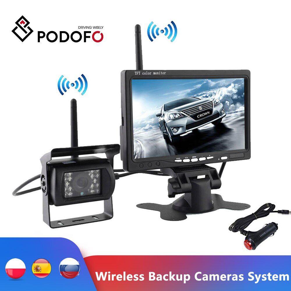 AliExpress Podofo – système de caméras de sauvegarde sans fil, Vision nocturne d'aide au stationnement,