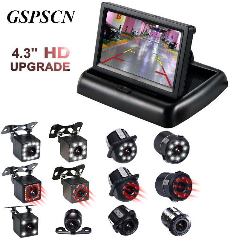 AliExpress GSPSCN Night Vison Vue Arrière De Sauvegarde Caméra Avec 4.3 pouce couleur LCD Vidéo de Voiture
