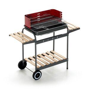 caesaroo Barbecue Charbon De Bois Avec Structure En Acier Et Coupe-Vent   Acier