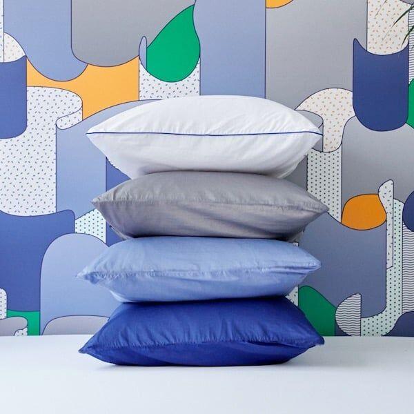 Tediber Paire de taies d'oreiller 50x70 satin coton Tediber - Livraison et retours gratuits - 4 coloris