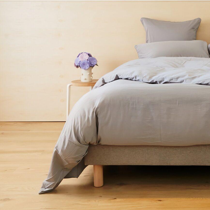 Tediber 2 Taies d'oreiller satin coton lavé Tediber - Disponible en 4 coloris - Livraison express et gratuite