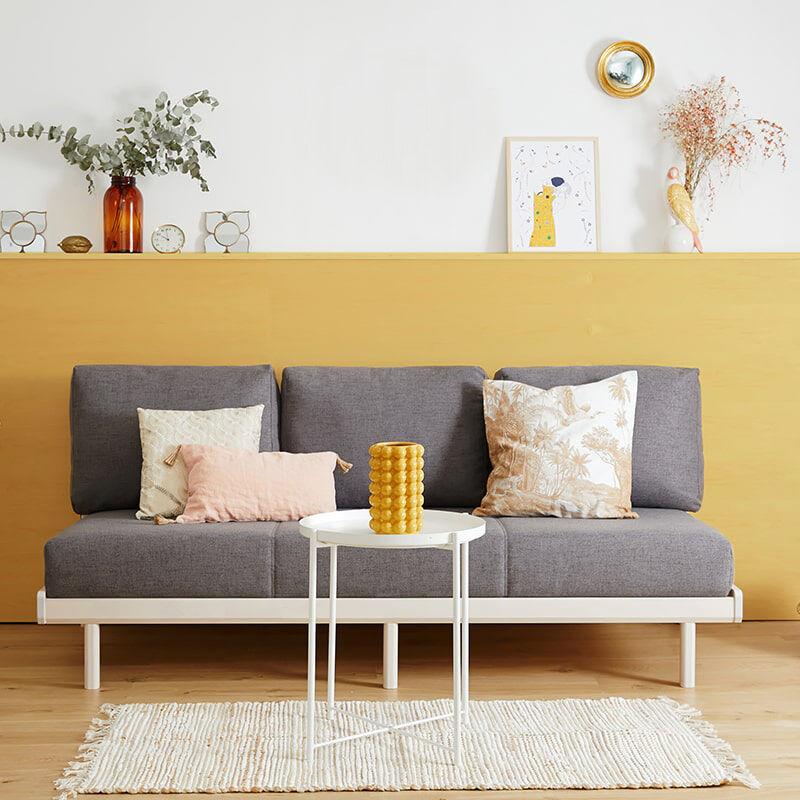 Tediber La Banquette-lit Tediber grise - Confort parfait assis et couché - Livraison gratuite - Paiement en 3x et 12x