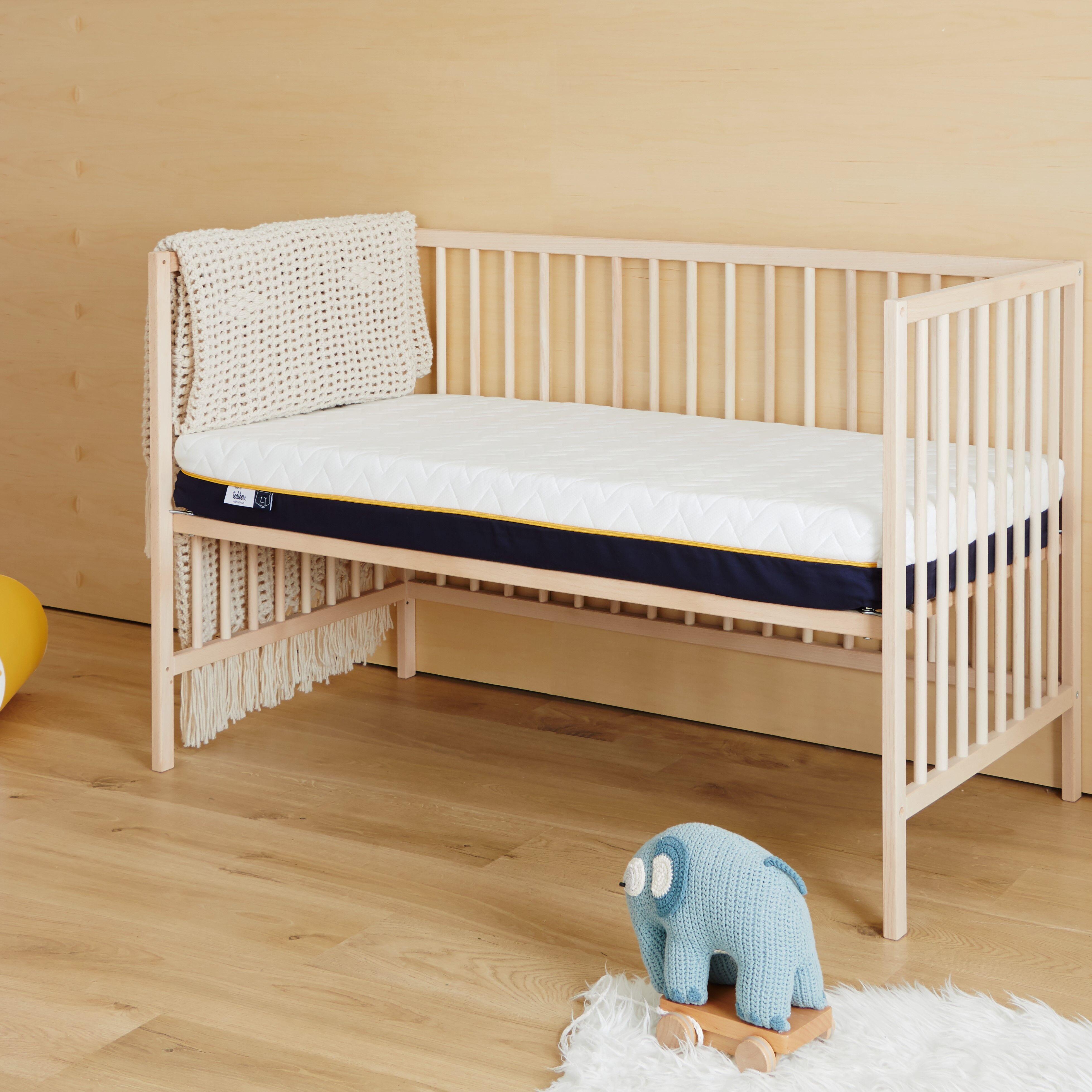Tediber Matelas bébé 60x120 Tediber - Livré gratuitement en express - Fabriqué en France - Idéal de 0 à 5 ans - Alèse bébé incluse
