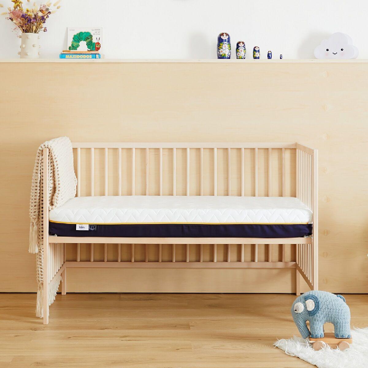 Tediber Matelas bébé 70x140 Tediber - Livré gratuitement en express - Fabriqué en France - Idéal de 0 à 5 ans - Alèse bébé incluse