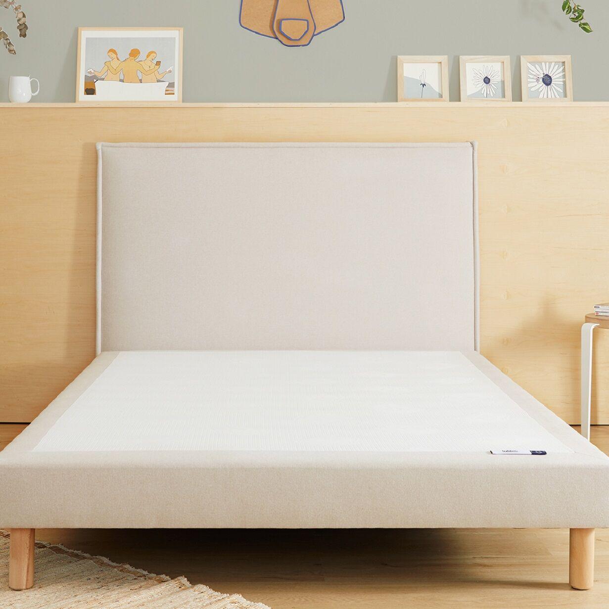 Tediber - L'incroyable Tête de Lit en tissu beige -Livraison et retours gratuits - 100 nuits d'essai - Marque française