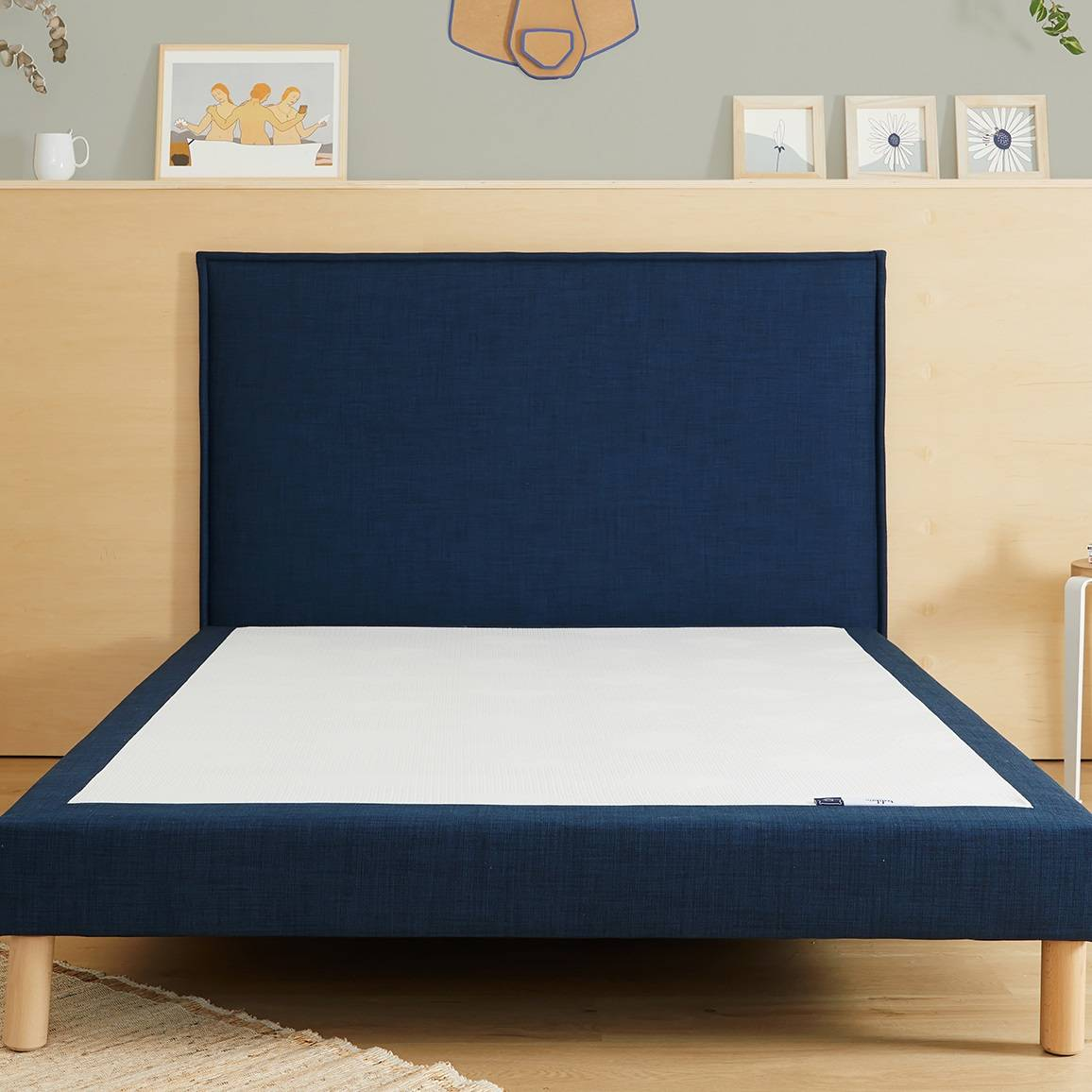 Tediber - L'incroyable Tête de Lit en tissu bleu -Livraison et retours gratuits - 100 nuits d'essai - Marque française