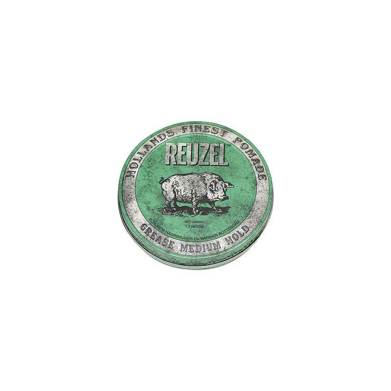Reuzel Cire pour cheveux fixation moyenne - Green grease pomade 35g