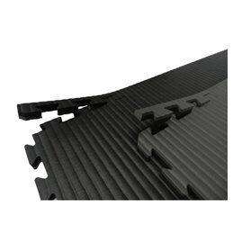 Battler Tatami / Tapis emboitable puzzle 4 cm epaisseur Noir et gris lot de 5 dalles de 1m²