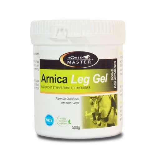 HORSEMASTER ARNICA LEG GEL - Pour les articulations et les tendons des chevaux - Contenance: 500 g