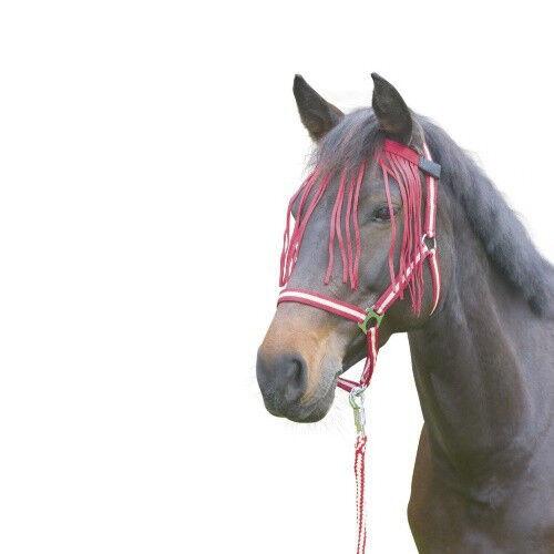 Albert Kerbl GmbH Chasse Mouche à Franges - Anti-mouche Poney - Couleurs: Rouge