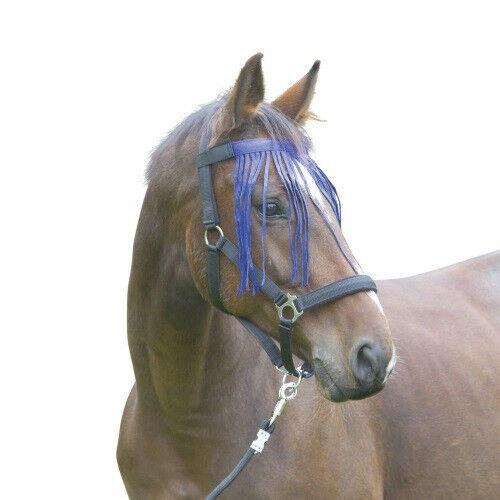 Albert Kerbl GmbH Chasse Mouche à Franges - Anti-mouche Cheval - Couleurs: Bleu Marine