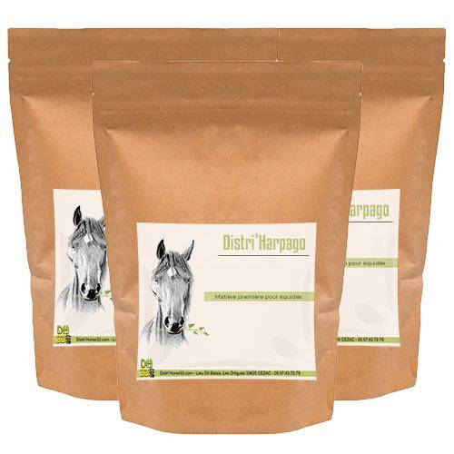 DISTRI'HORSE33 Distri'Harpago - Lot de 3 sacs - Arthrose cheval - Contenance: 3 x 500 g