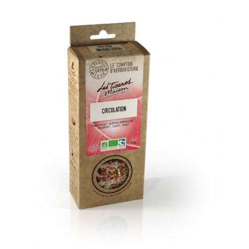 Le Comptoir d'Herboristerie Tisane Circulation bio 50g - 100% naturel