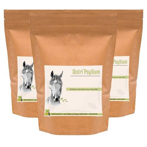 DISTRI'HORSE33 Psyllium cheval - Colique de sable - Contenance: 3 x 900 g