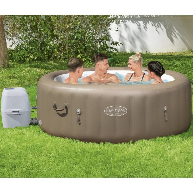 Bestway Spa gonflable rond Palm Springs AirJet 4 à 6 places - Lay-Z-Spa BESTWAY