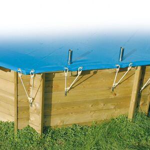 Ubbink Bâche de sécurité hivernage Diam 410cm PVC 550gr pour piscines Ubbink - Publicité