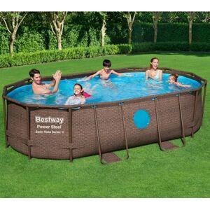 Bestway Piscine tubulaire ovale Power Steel Swim Vista 427x250cm avec 2 hublots - Bestway - Publicité