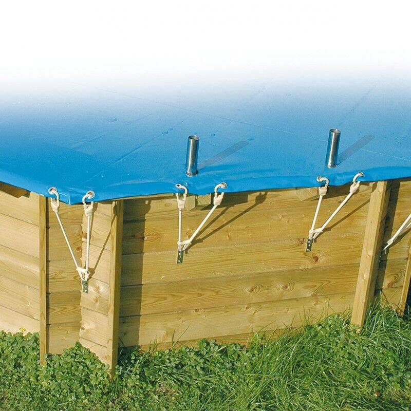 Ubbink Bâche de sécurité hivernage 300x555cm PVC 550gr pour piscines Ubbink