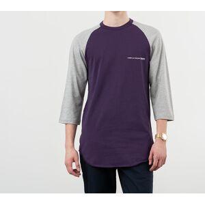 Comme des Garçons SHIRT Logo Baseball Tee Purple/ Grey - male - M
