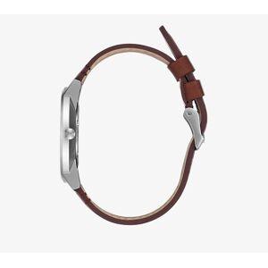 Nixon Porter Leather Watch Silver/ Brown - unisex - Taille universelle - Publicité
